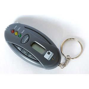 Elektronický alkohol tester,přívěšek na klíče, LED svítilna - Evolve
