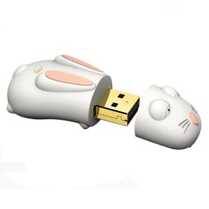 Pendrive králík, 4 GB, USB 2.0, bílý - Evolve