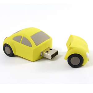 Pendrive auto , 2 GB, USB 2.0, žluté - Evolve
