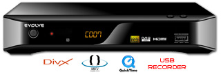 HD DVB-T rekordér EVOLVEO Scorpio se záznamem na USB a podporou NTSF (MPEG-4 HD,HDMI,MKV,H.264,TimeShift,DivX,MP3,JPG)