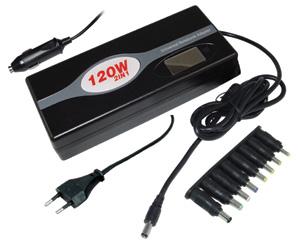 EVOLVEO GLOBAL PU120 universální zdroj pro notebooky 120W, 230V síť nebo 12V automobil