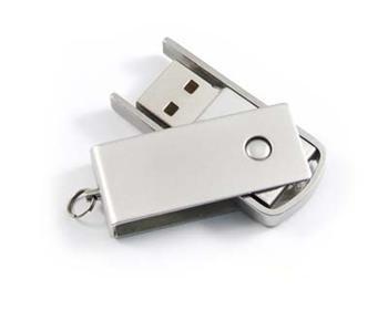 Pendrive kovový, 8 GB, USB 2.0, stříbrný - Evolve