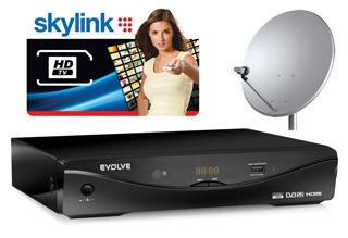 HD satelitní komplet EVOLVEO Apollo HD (karta Skylink HD, oficiální certifikovaný Cryptoworks HD modul)