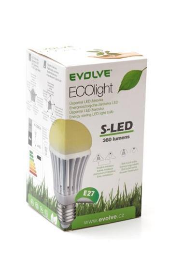 LED žárovka EVOLVEO EcoLight - 4W, svítivost 360lm (ekvivalent k 40W) příjemné teplé světlo (warm light), patice E27