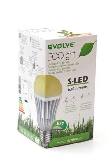 LED žárovka EVOLVEO EcoLight - 7W, svítivost 630lm (ekvivalent k 60W) denní světlo (day light), patice E27