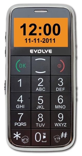GSM mobilní telefon EVOLVEO Ego (velký displej, snadné ovládání, FM rádio, SOS tlačítko, svítilna, černý)