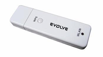 EVOLVEO WN751 N-lite USB bezdrátový klient 2.4GHz, WPS, 150Mbit/sec
