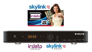 HD satelitní přijímač EVOLVEO BlackStar HD + Skylink HD karta (balíček Multi a HD Plus)
