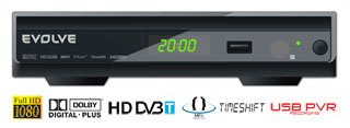 HD DVB-T rekordér EVOLVEO Galaxy (USB PVR,MPEG-4 HD,HDMI,Dolby Digital Plus,TimeShift,MKV,H.264,NTFS,DivX,MP3,JPG)