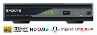 HD DVB-T rekordér EVOLVEO Galaxy (USB PVR,MPEG-4 HD,HDMI,Dolby Digital Plus,TimeShift,MKV,H.264,NTFS,DivX,MP3,JPG)