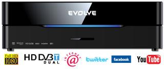 EVOLVEO Blade DualCorder HD (2x HD DVB-T tuner/Internet/YouTube/1080p/MKV/1GB LAN/WiFi/USB 3.0/Dolby/DTS/HDMI)