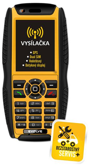 Vodotěsný odolný Dual SIM GSM mob. tel. EVOLVEO Predator 2.0 - se službou Bestarostný servis v České republice