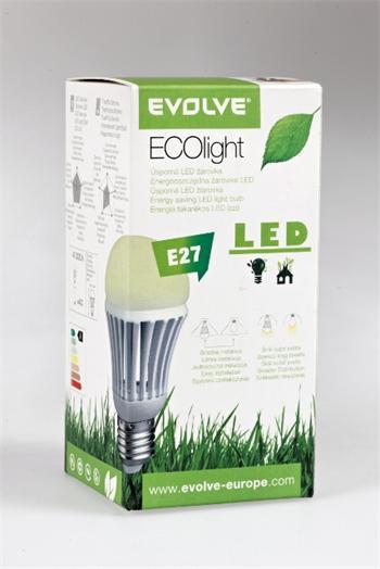LED žárovka EVOLVEO EcoLight - 7W, svítivost 630lm (ekvivalent k 60W) přirozené denní světlo (natural light 4300k), E27