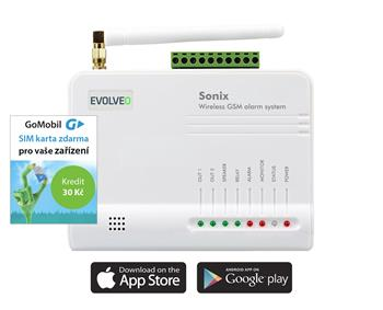 EVOLVEO Sonix, wireless GSM alarm