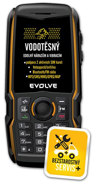 EVOLVEO Gladiator RG200, vodotěsný odolný Dual SIM telefon