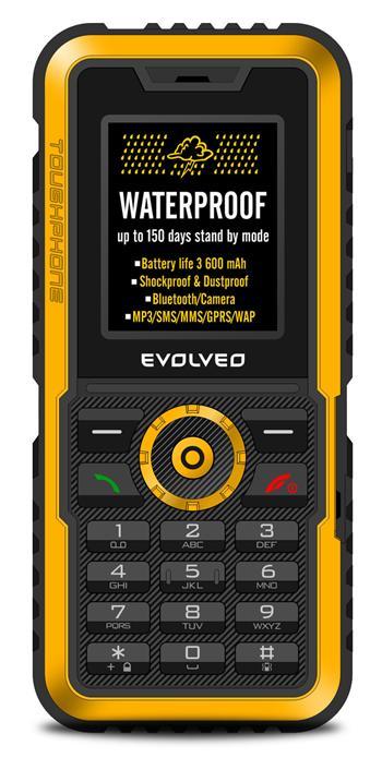 EVOLVEO Gladiator RG300, vodotěsný odolný telefon