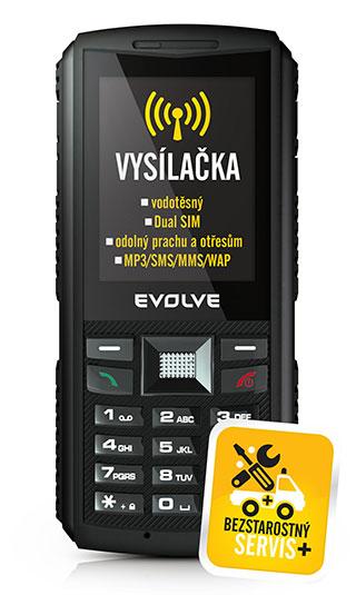 EVOLVEO Gladiator RG400, vodotěsný telefon s vysílačkou
