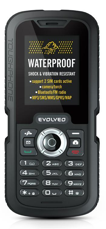 EVOLVEO Gladiator RG250, vodotěsný odolný Dual SIM telefon