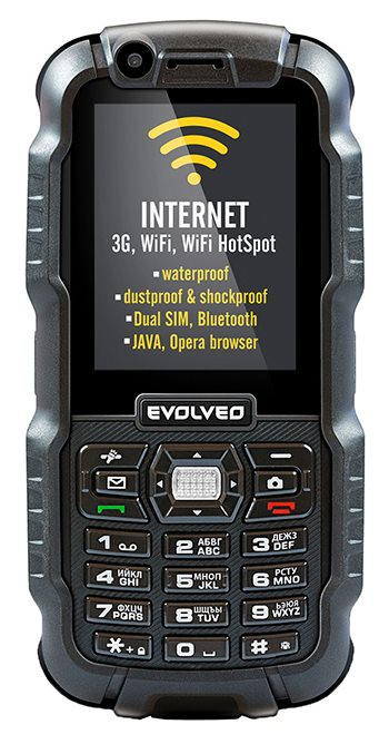 EVOLVEO StrongPhone WiFi, rugged waterproof Dual SIM phone