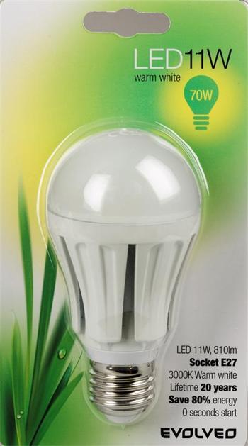 EVOLVEO EcoLight, LED žárovka 11W, patice E27, stmívatelná, blister
