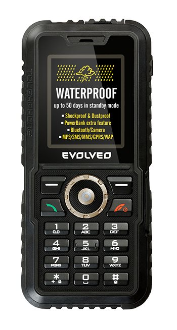EVOLVEO StrongPhone Accu, rugged waterproof mobile phone