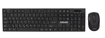EVOLVEO WK-122, set of wireless keyboard and optical mouse