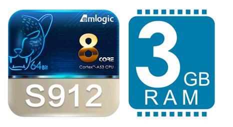 Amlogic S912 - 3GB RAM