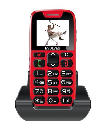 EVOLVEO EasyPhone, mobile phone for seniors with charging stand