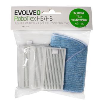 EVOLVEO RoboTrex H5, příslušenství (3 ks HEPA filtr + 1 ks XXL mop z mikrovlákna)