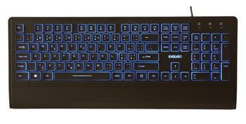 EVOLVEO LK652, multimedia keyboard with adjustable intensity of backlight, USB