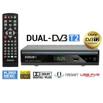EVOLVEO Gamma T2, Dual HD DVB-T2 H.265/HEVC Recorder