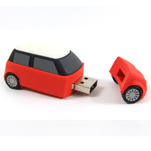 Pendrive auto mini, 4 GB, USB 2.0, červené - Evolve