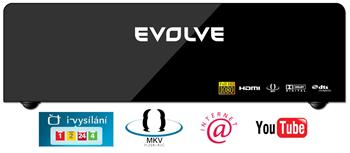 EVOLVEO Solaris 2TB (Internet/iVysilání ČT/YouTube/1080p/MKV/1GB LAN/USB 3.0/Dolby/HDMI)