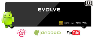 EVOLVEO Solaris 3TB (Internet/YouTube/1080p/MKV/1GB LAN/USB 3.0/Dolby/HDMI)