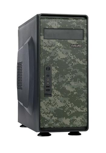 EVOLVEO M612, case ATX, čtečka SD karet, military design -