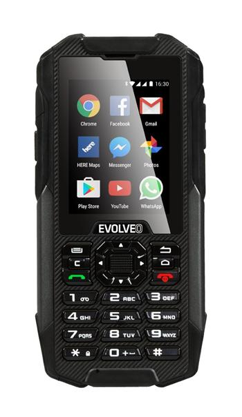 EVOLVEO StrongPhone X4, waterproof and rugged Android smartphone with keypad