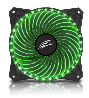 EVOLVEO 12L2GR ventilátor 120mm, 33 LED, zelený, 3pin