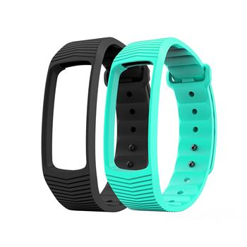 EVOLVEO FitBand B3, replacement colour strips, 1x black and 1x turquoise colour