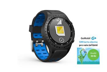 EVOLVEO SportWatch M1S, Smart SportWatch with SIM support,  blue and black bracelet