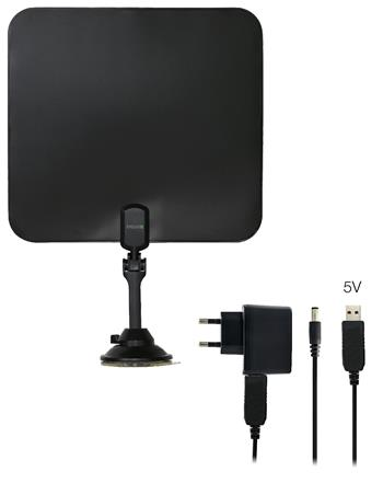 EVOLVEO Xany 2C LTE 230/5V, 41dBi active indoor DVB-T/T2 antenna, LTE filter, RED certificate