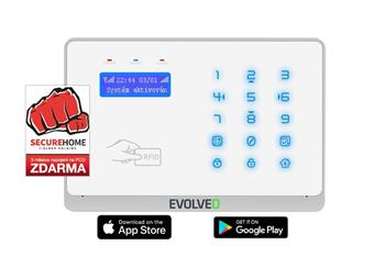 EVOLVEO Salvarix, wireless WiFi&GSM alarm with RFID reader